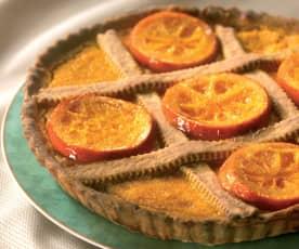 Crostata di carote e arance