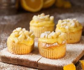 Cupcake mimosa all'arancia