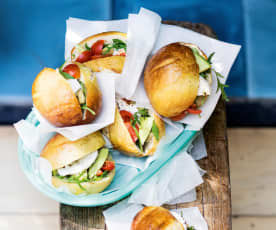 Petits sandwichs façon bretzel