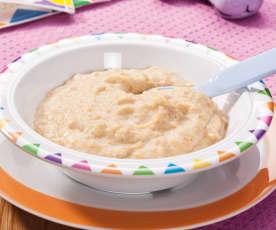 Dinkel-Milchbrei mit Pfirsich