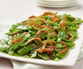 Spicy Asian Snow Peas