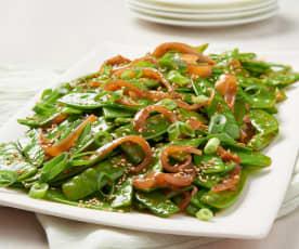 Spicy Asian Snow Peas