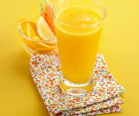 Jus vitaminé orange, carotte et citron