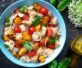 Salát Panzanella s mušlemi