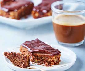 Brownies con toffee y cobertura de chocolate