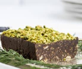 Salame de chocolate e pistácio