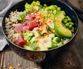 Thunfisch-Avocado-Bowl