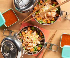 Sriracha Chicken with Soba Noodle Salad