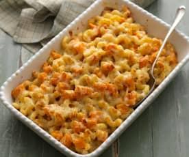 Makkaroni-Butternuss-Käse-Auflauf