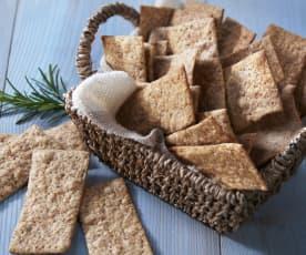 Crackers integrales al romero