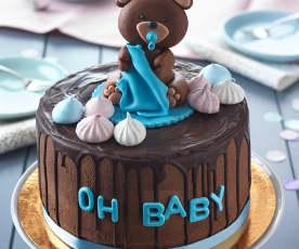 Schoko Drip Cake mit Ganache und Amarenakirschen