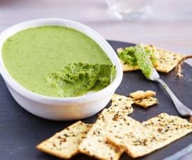 Mousse de cilantro y jalapeño