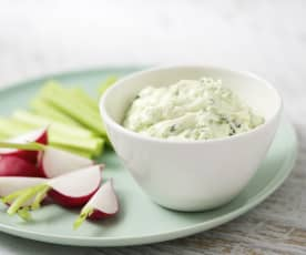 Herb and garlic dip