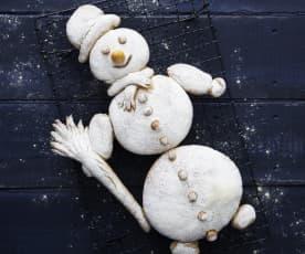 Bonhomme de neige en pain
