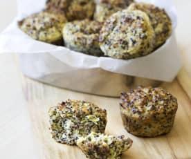 Šunkovo-sýrové quinoa muffiny