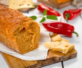 Chléb se sýrem a salámem