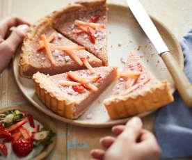 Tarte crémeuse aux fraises