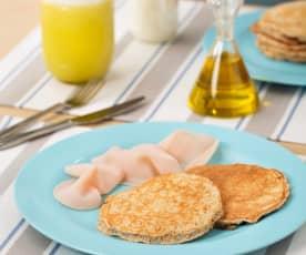 Tortitas de desayuno de avena y claras