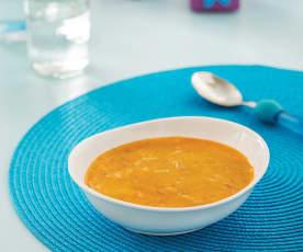 Zupa z krewetkami i makaronem (dla dzieci)