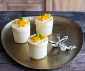 Soufflés glacés à la mangue