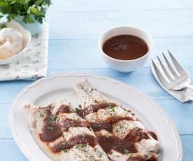 Lubina en salsa de salmorreta