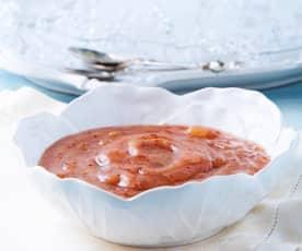 Salsa de manzana y arándano