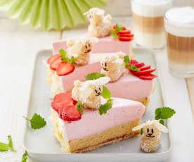 Fruchtige Erdbeer-Schmand-Torte