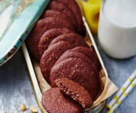 Cookies de cacahuete y plátano (sin gluten)