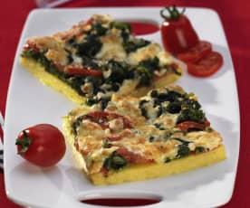 Polenta mit Spinat und Käse