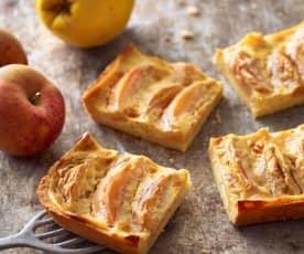Apfel-Quitten-Blechkuchen