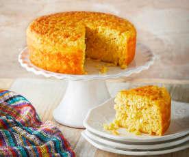 Torta de elote con queso