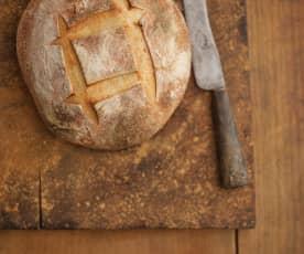 Pão de água com massa-mãe