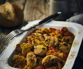 Pikanter Currywurstsalat
