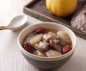水梨燉排骨湯
