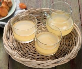 Décoction d'orge à l'abricot et au gingembre
