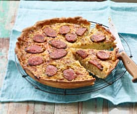 Blumenkohl-Chorizo-Quiche