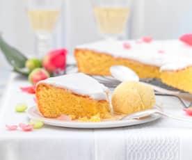 Gâteau nantais et glace au rhum