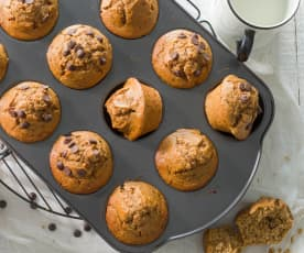 Muffins de mantequilla de cacahuete
