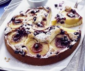Pfirsich-Johannisbeer-Kuchen