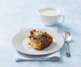 Apple, feijoa and ginger sponge pudding