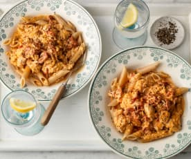 Creamy Chicken and Chorizo Pasta