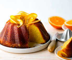 Gâteau et sirop à l'orange