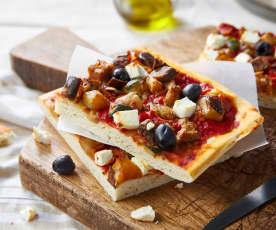 Pizza aux légumes grillés et feta