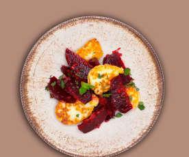 Lauwarmer Rote-Bete-Salat mit Halloumi
