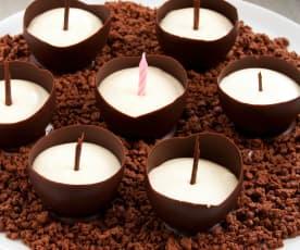 Candele al cioccolato