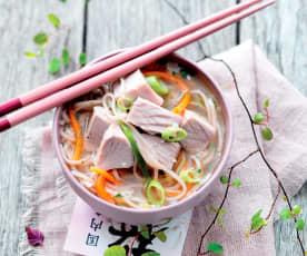 Thon mariné aux nouilles chinoises