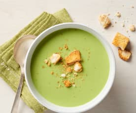 Spring Pea Green Soup