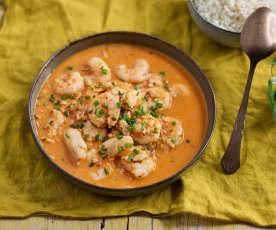 Zuppa di pesce con latte di cocco e riso
