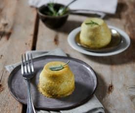 Sformatini formaggio e aromatiche (tartra)