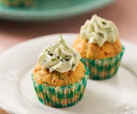 Minicupcakes de beicon, queso y hierbas